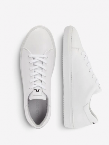 Vita skinnsneakers från J. Lindberg